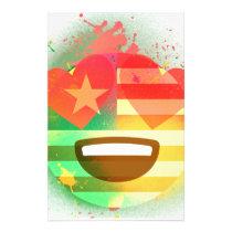 Love Smile America flag Emoji Spray Paint Art Stationery