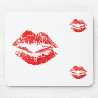 Love, Smooches, Kisses, Lips Mouse Pad