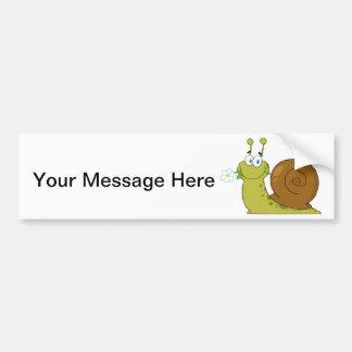 Love Snail Bumper Sticker