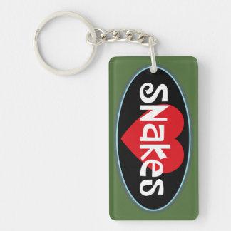Love SNAKES Double-Sided Rectangular Acrylic Keychain