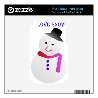 Love Snowfall Image Decal For iPod Touch 4G