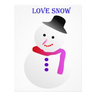 Love Snowfall Image Letterhead