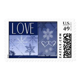 LOVE snowflake Postage Stamp