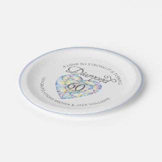 Love so strong Diamond Anniversary party plate