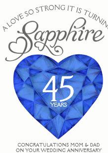 45th anniversary invitations zazzle