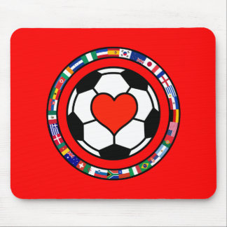Love Soccer 2010 Mouse Pad