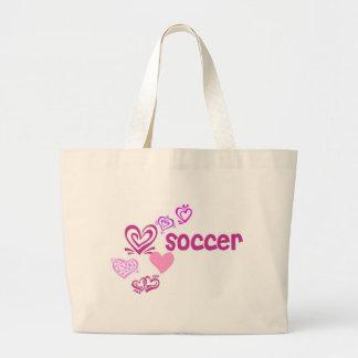 Love Soccer Jumbo Tote Bag