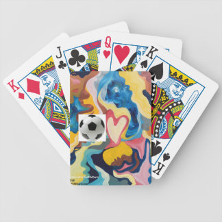 Love Soccer Ball Bicycle Playing Cards