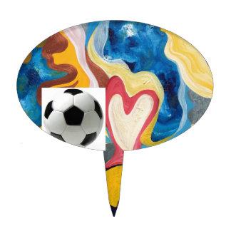 Love Soccer Ball Cake Topper
