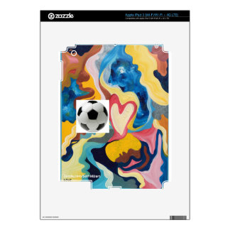 Love Soccer Ball iPad 3 Decal