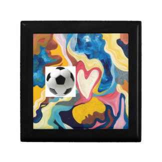 Love Soccer Ball Jewelry Box