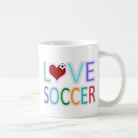 LOVE SOCCER COFFEE MUG