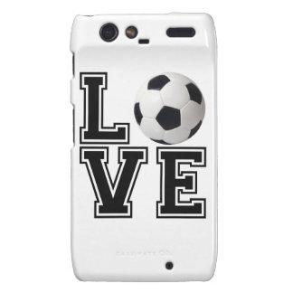 Love Soccer College Style Droid RAZR Cases