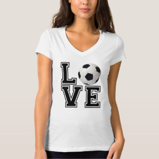 Love Soccer College Style T-Shirt