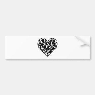 Love soccer concept bumper stickers