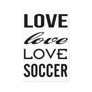 Love Soccer Gallery Wrapped Canvas Print