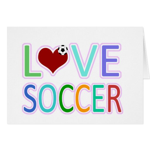 LOVE SOCCER GREETING CARD