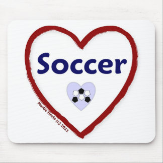 Love Soccer Mouse Pad