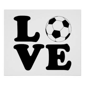 Love Soccer print / poster