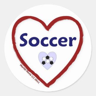 Love Soccer Sticker