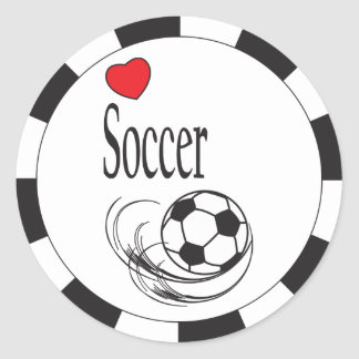 Love Soccer Stickers