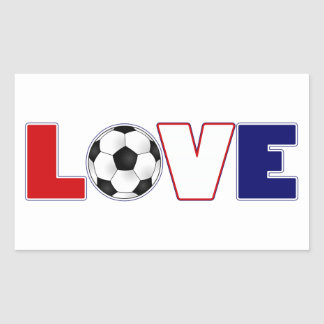 Love Soccer USA Rectangular Sticker