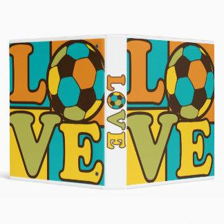 Love Soccer Vinyl Binder