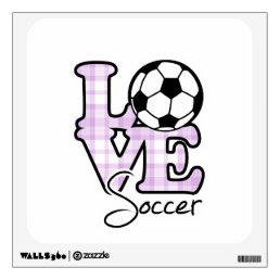 Love Soccer Wall Sticker