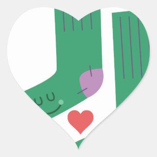 Love Socks Heart Sticker