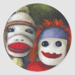 Love Socks Round Stickers