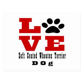 Love Soft Coated Wheaten Terrier Dog Designes Postcard