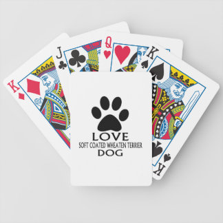 LOVE SOFT COATED WHEATEN TERRIER DOG DESIGNS BICYCLE PLAYING CARDS