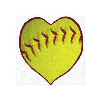 Love Softball Canvas Prints