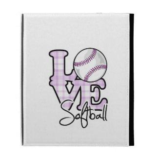 Love Softball iPad Folio Case