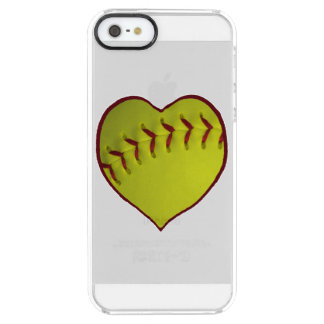 Love Softball Clear iPhone SE/5/5s Case