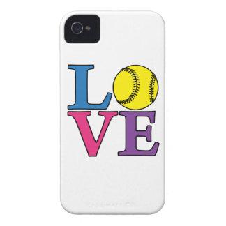 LOVE Softball iPhone 4 Cover