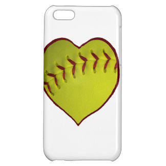 Love Softball Case For iPhone 5C