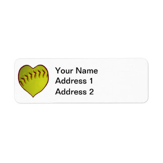 Love Softball Label