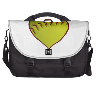 Love Softball Laptop Messenger Bag