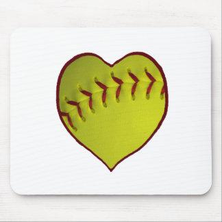 Love Softball Mouse Pad