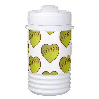 Love Softball Pattern Cooler
