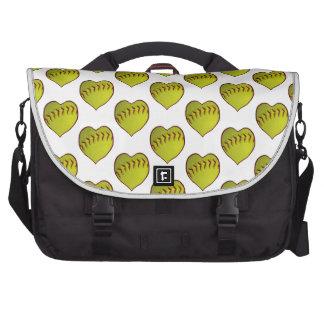 Love Softball Pattern Laptop Bag