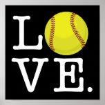 Love Softball Poster