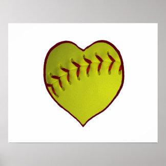 Love Softball Print