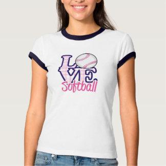 Love Softball Ringer Shirt