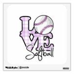 Love Softball Room Decals