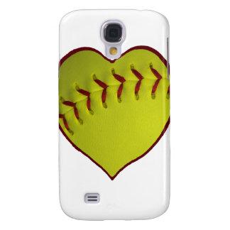Love Softball Samsung Galaxy S4 Cover