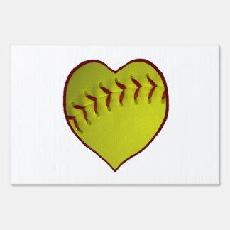 Love Softball Sign