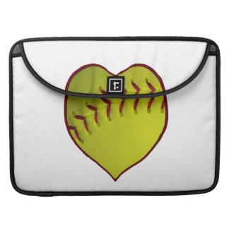Love Softball Sleeve For MacBooks