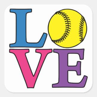 LOVE Softball Stickers